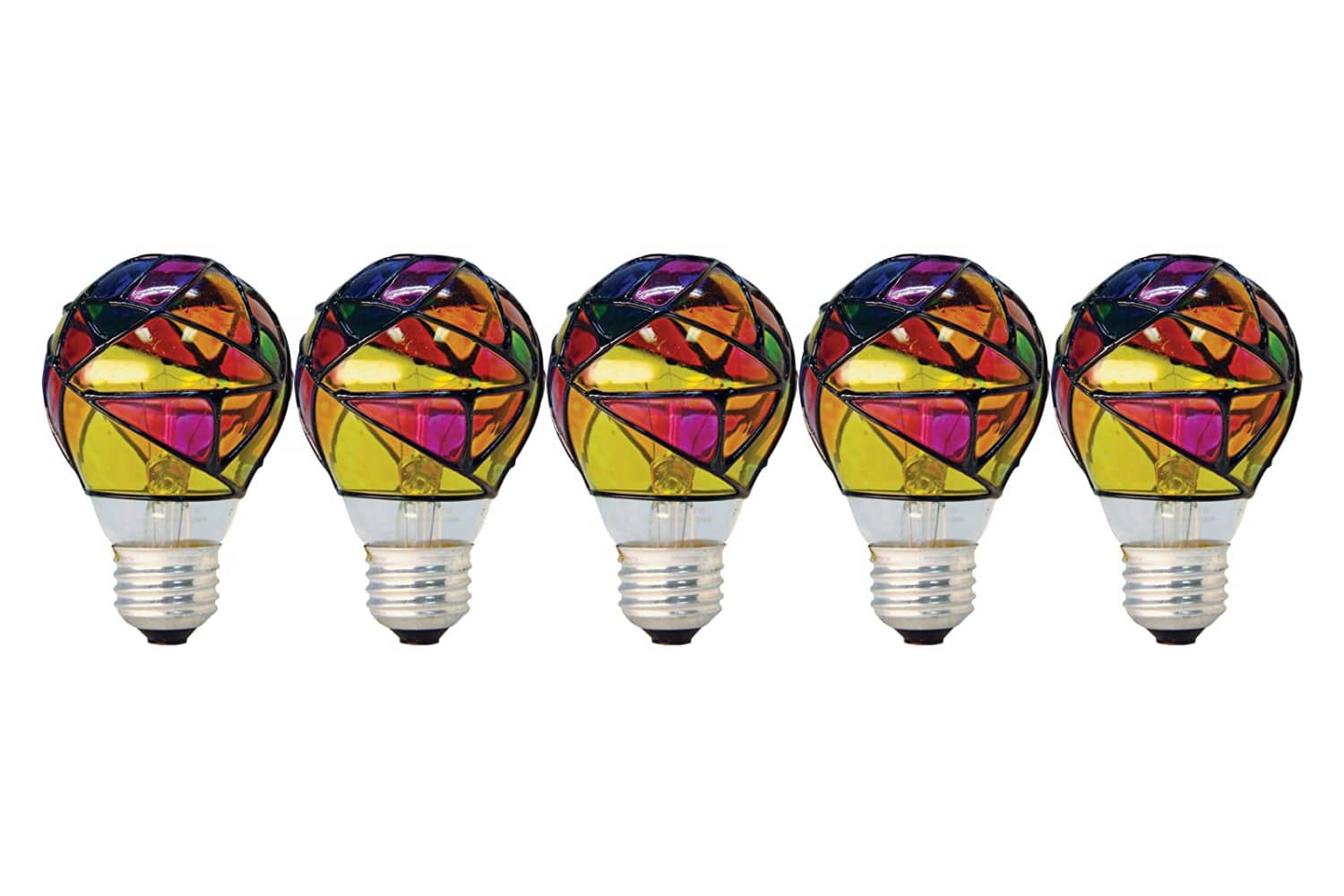 Amazon Reviewers Are Obsessed with These Stained Glass Light Bulbs, and It's Easy to See Why