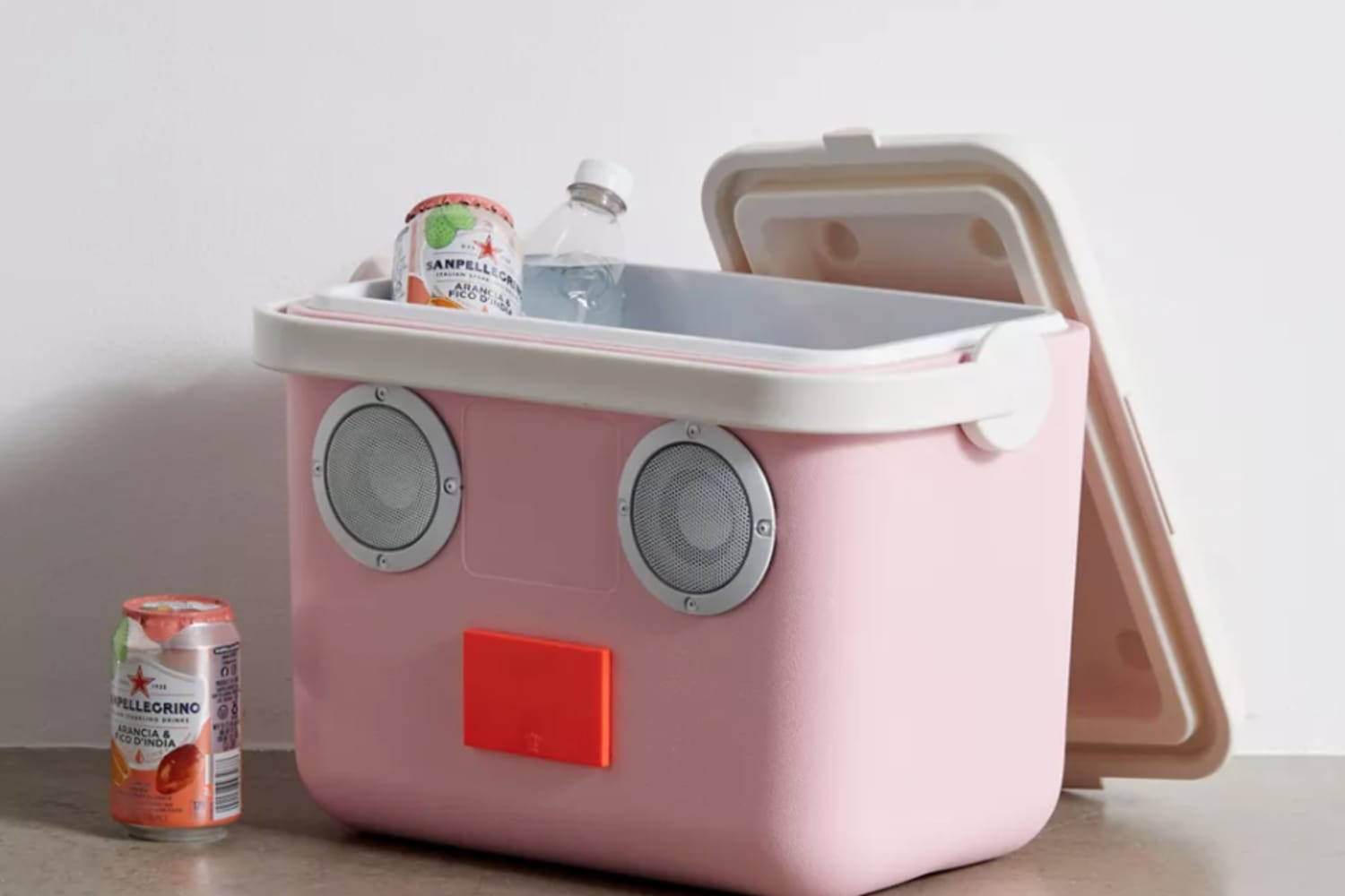 This Pink Bluetooth Cooler Speaker is Perfect For Summer Picnics