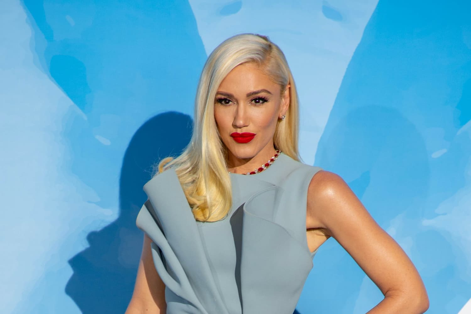 Gwen Stefani's Fireplace Is Classic Black and White Marble with a Twist