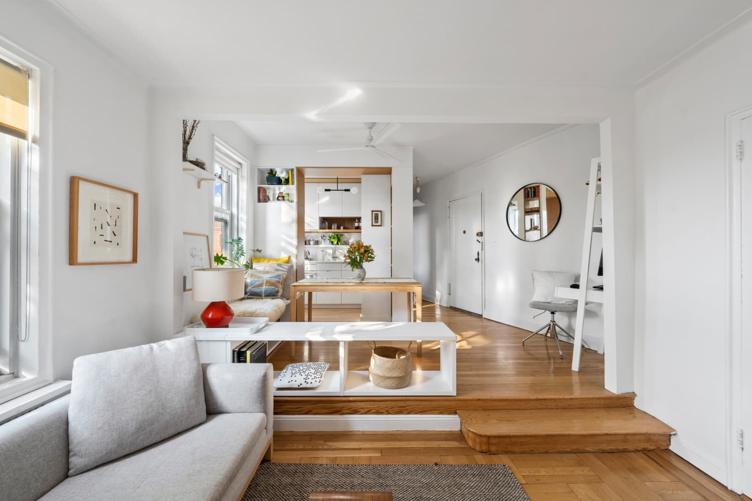 This Tiny One-Bedroom for Sale in Brooklyn Feels Much Larger, Thanks to a Smart Layout