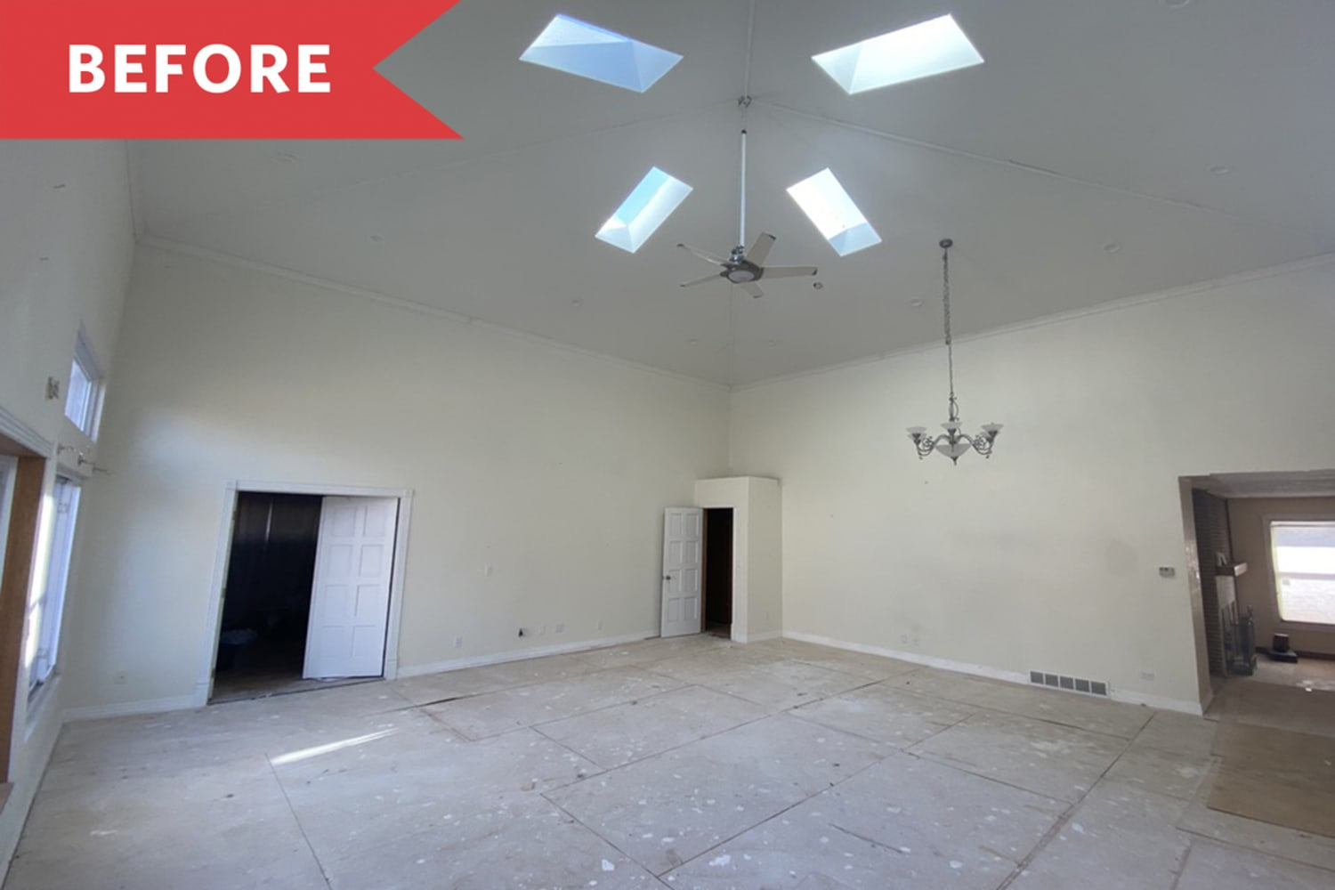 See How a Home Stager Turned a Cavernous Den into a Stunning Multipurpose Space