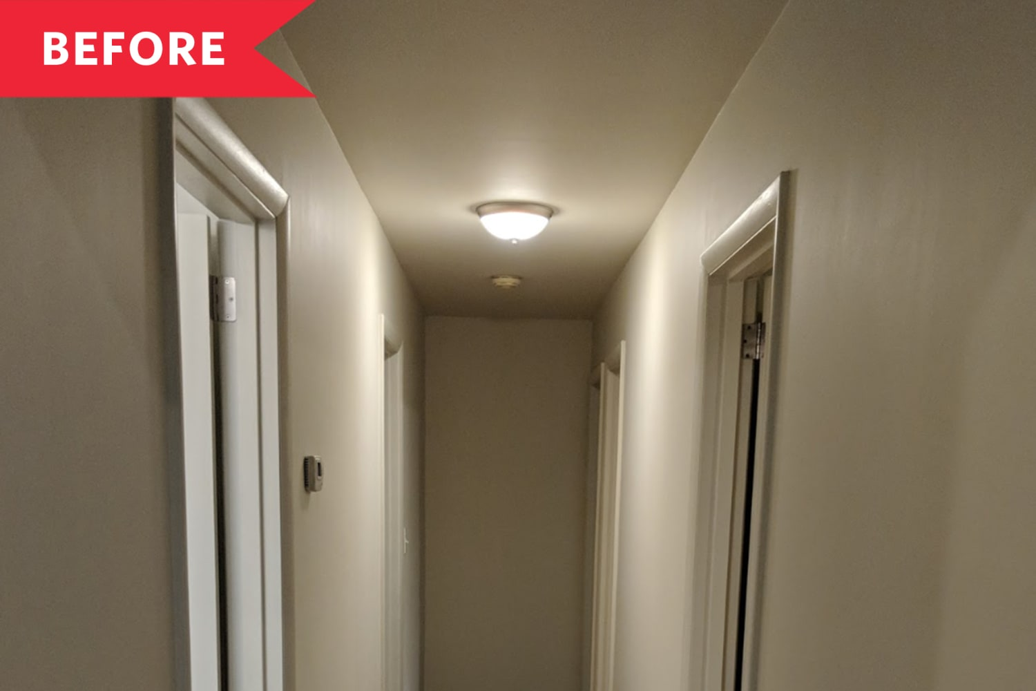 Before and After: A Bare Hallway Gets a Stunning Gallery Wall Glow Up