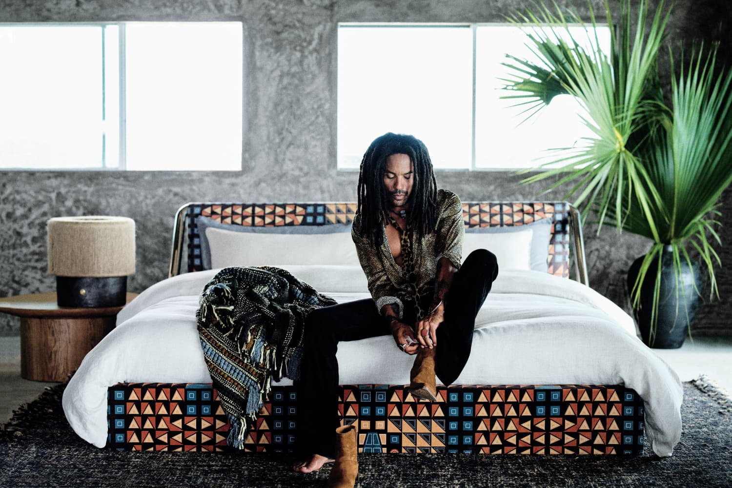 Lenny Kravitz Launched a New CB2 Collection, and It's Big on Rattan and Prints