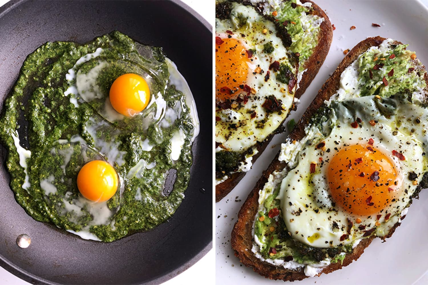 I Tried the Pesto Eggs TikTok Is Obsessed with, and I'm Hooked | Kitchn