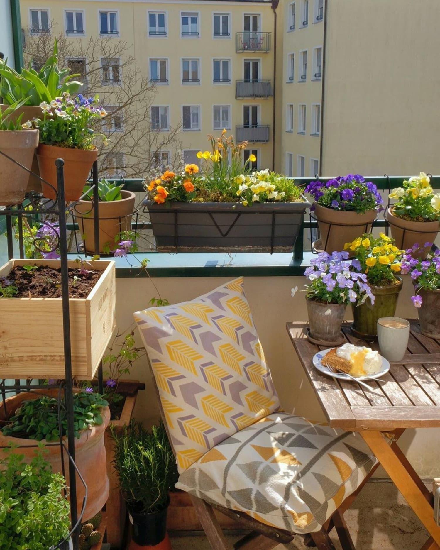 28 Balcony Garden Ideas - How to Grow Plants on a Small Balcony