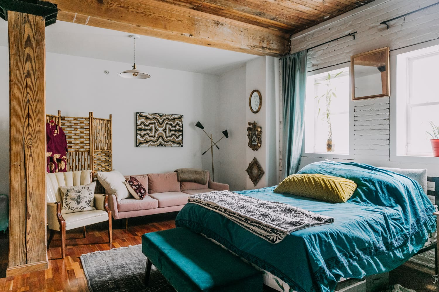 Get the Look in 7 Pieces: A Boho Industrial Loft ...