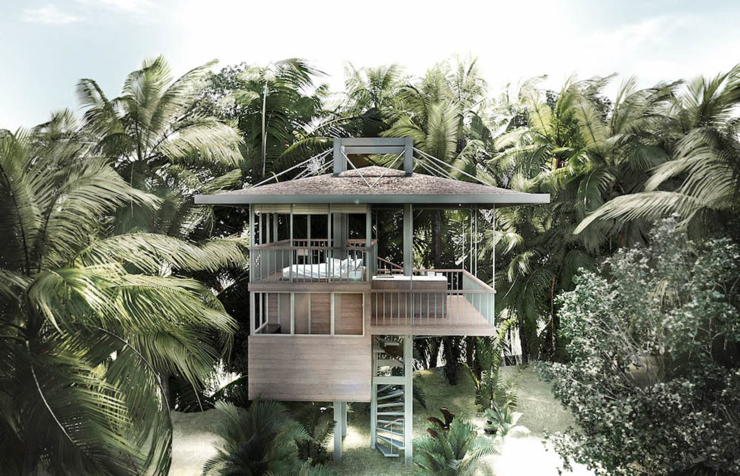 These Homes Built on Stilts in Bali Are Like Luxe Treehouses For Adults