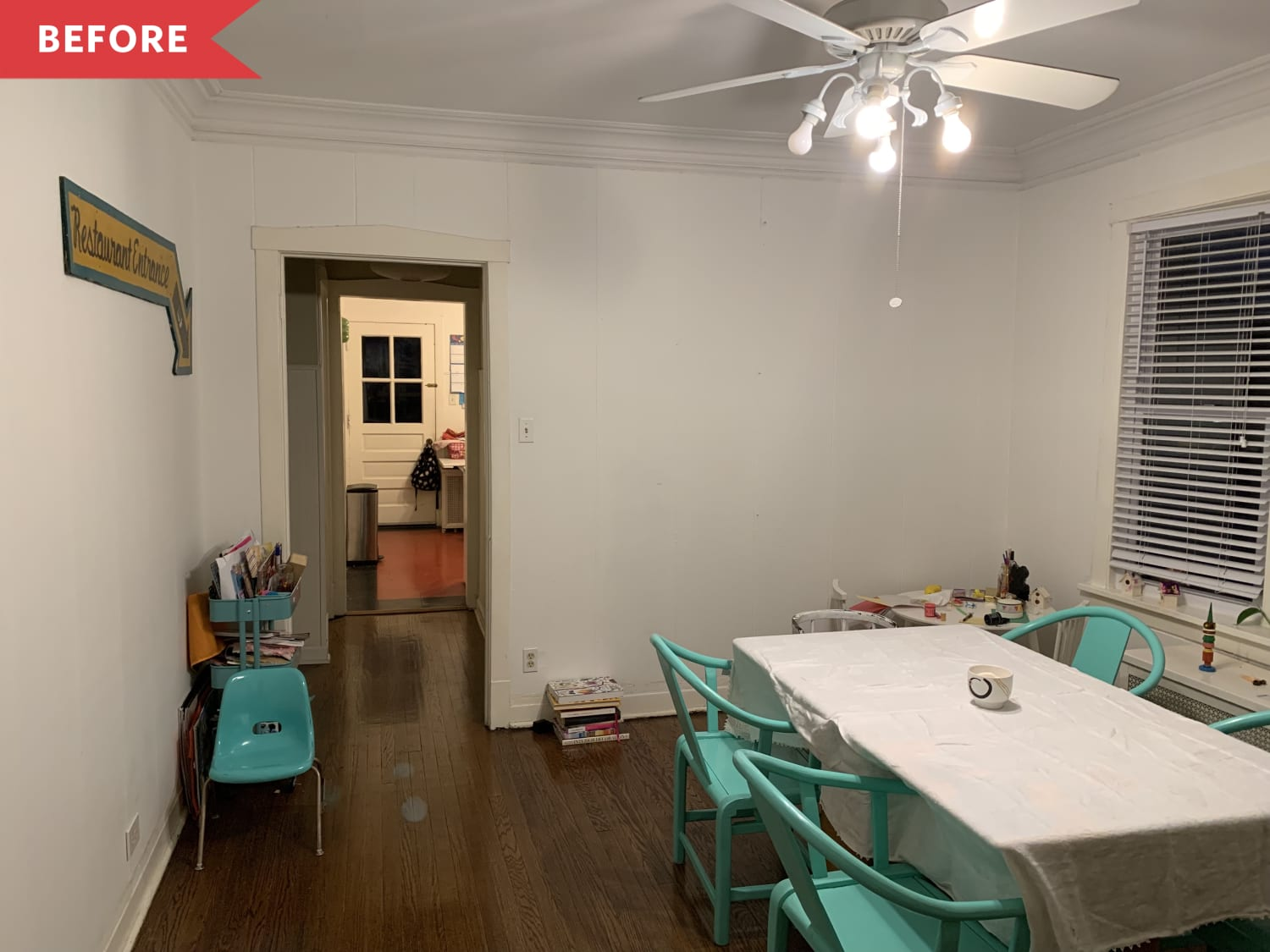 Before and After: I Made My Plain Rental Dining Room Look Seriously High-End
