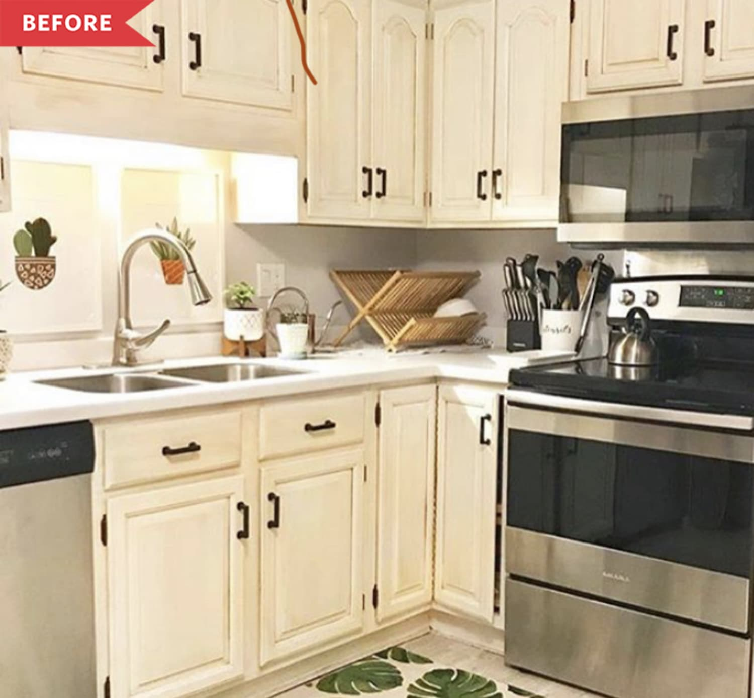 Before and After: The $500 Kitchen Refresh of Your Scandi-Modern Dreams