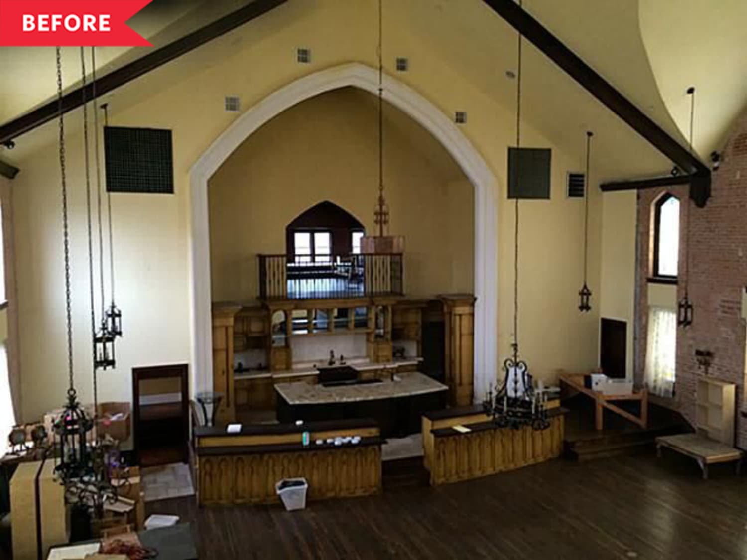 Before and After: This 100-Year-Old Converted Church's Kitchen Reno is a Stunner