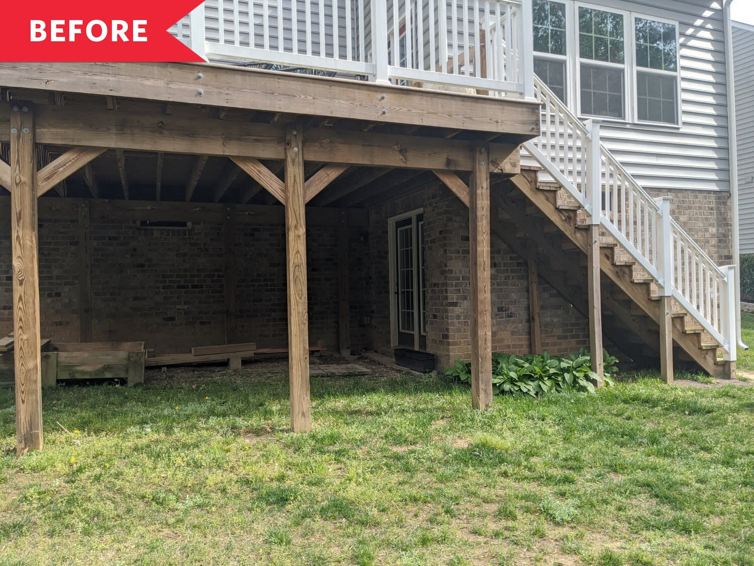 Before and After: A Dark, Muddy Storage Area Becomes a Dreamy Backyard Escape
