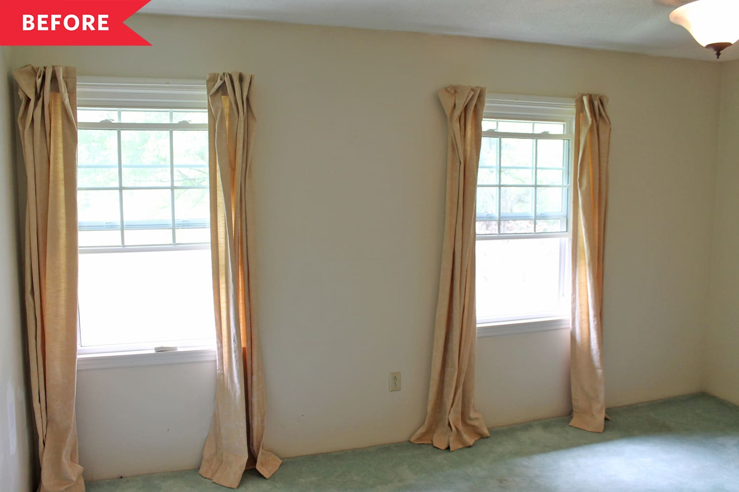 Before and After: A Blah Bedroom's Soothing Refresh Has Ideas Starting at $10