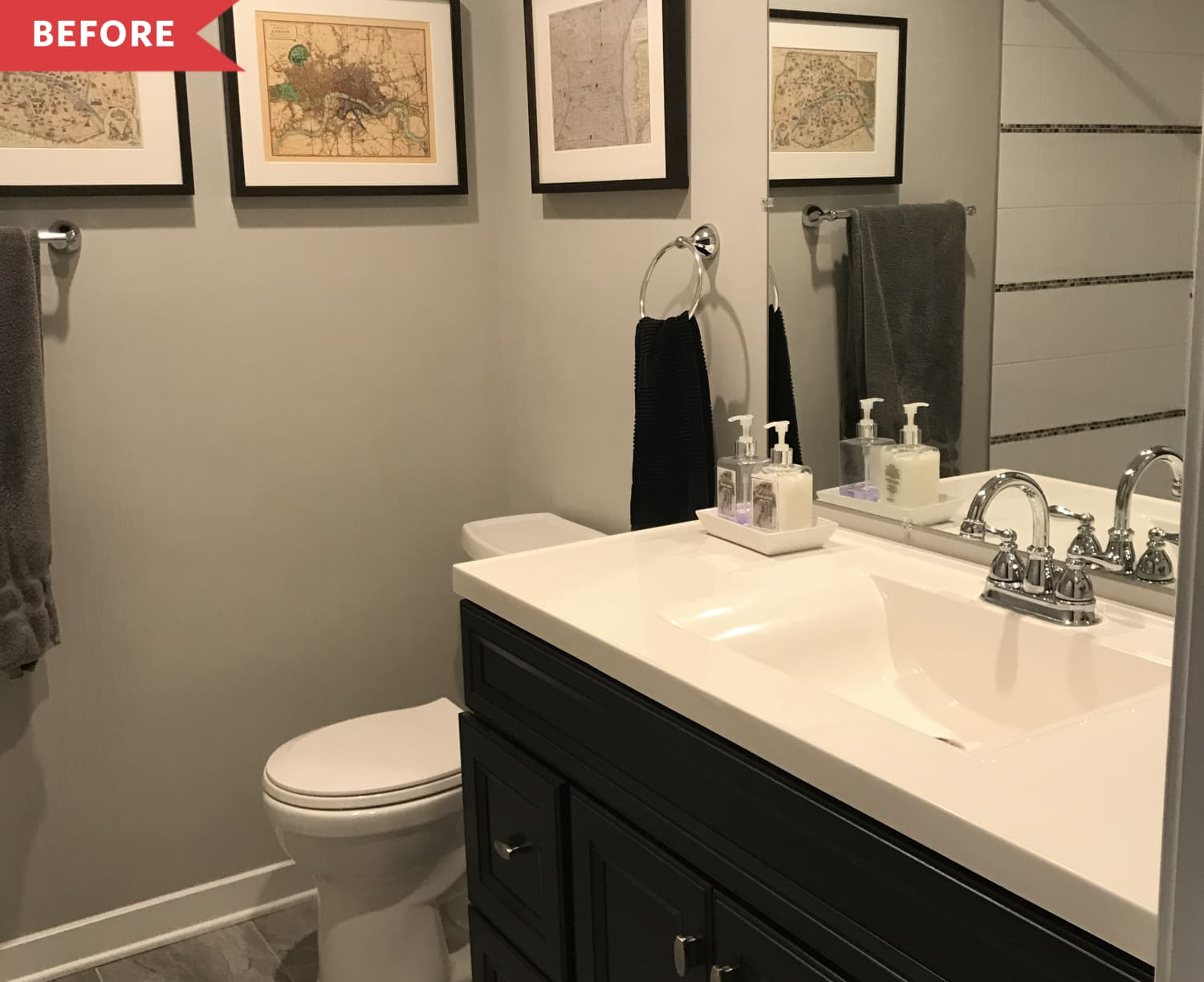 Before and After: $300, 5 Paint Colors, and 2 Weeks Help a Plain Bathroom Pop