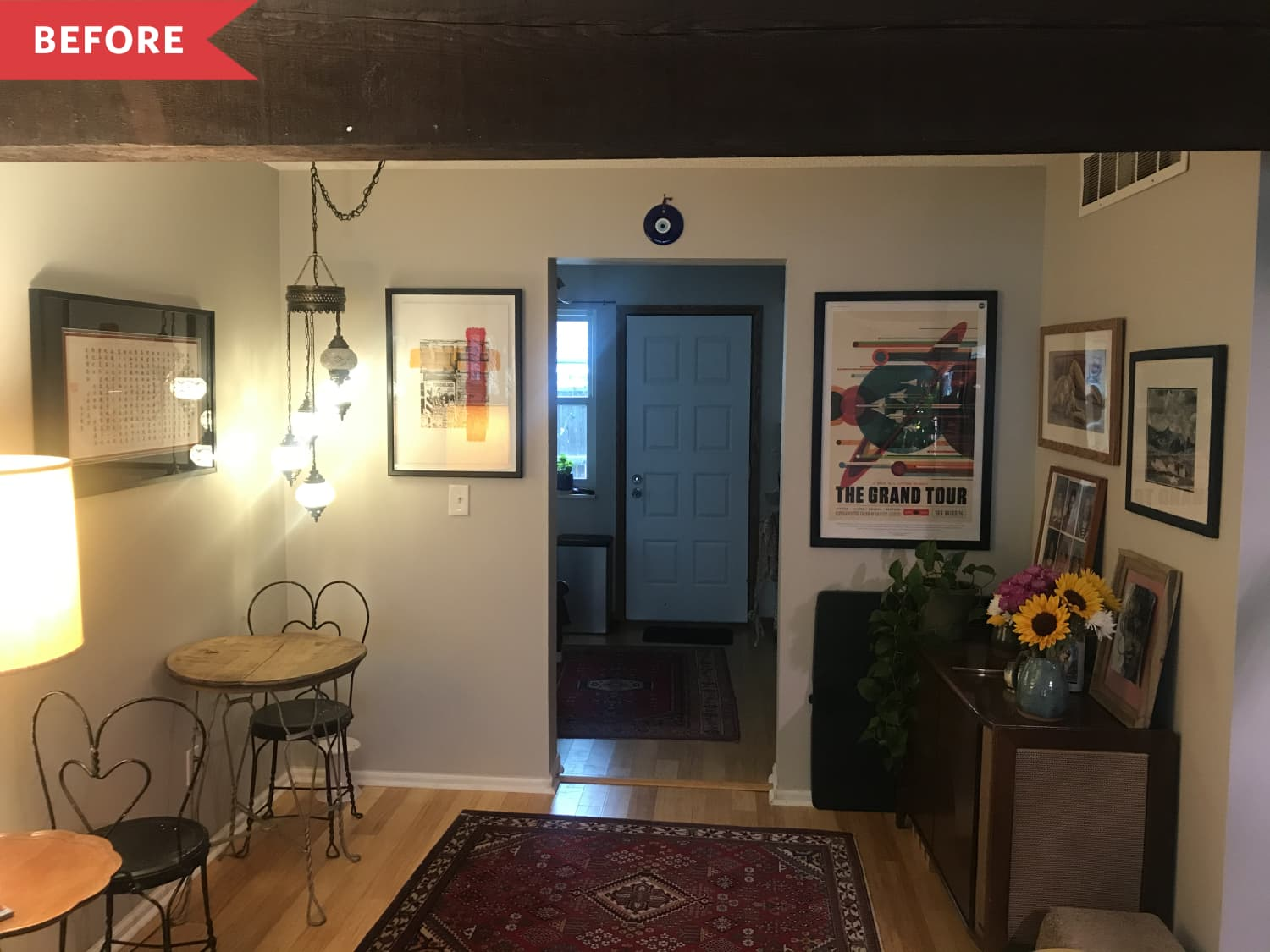 Before and After: A $20 Afternoon Project Makes This Living Room Pop