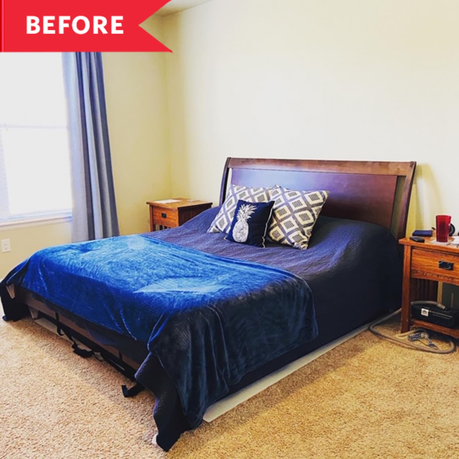 "Before and After: A ""Bachelor Pad"" Bedroom Goes ""Fancy Hotel"" for Just $300"