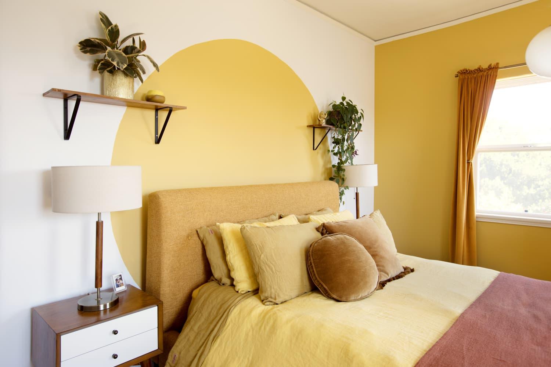 cat dinding kamar warna kuning