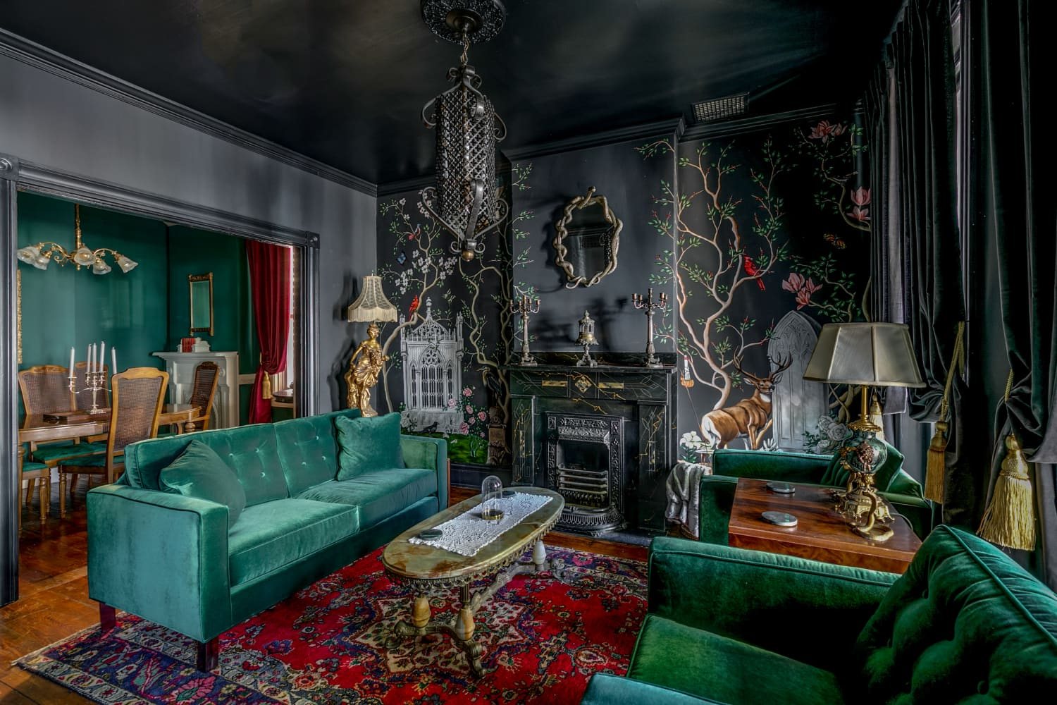 A Moody Virginia House Inspired by Edgar Allen Poe Is a Gothic Lover's Dream