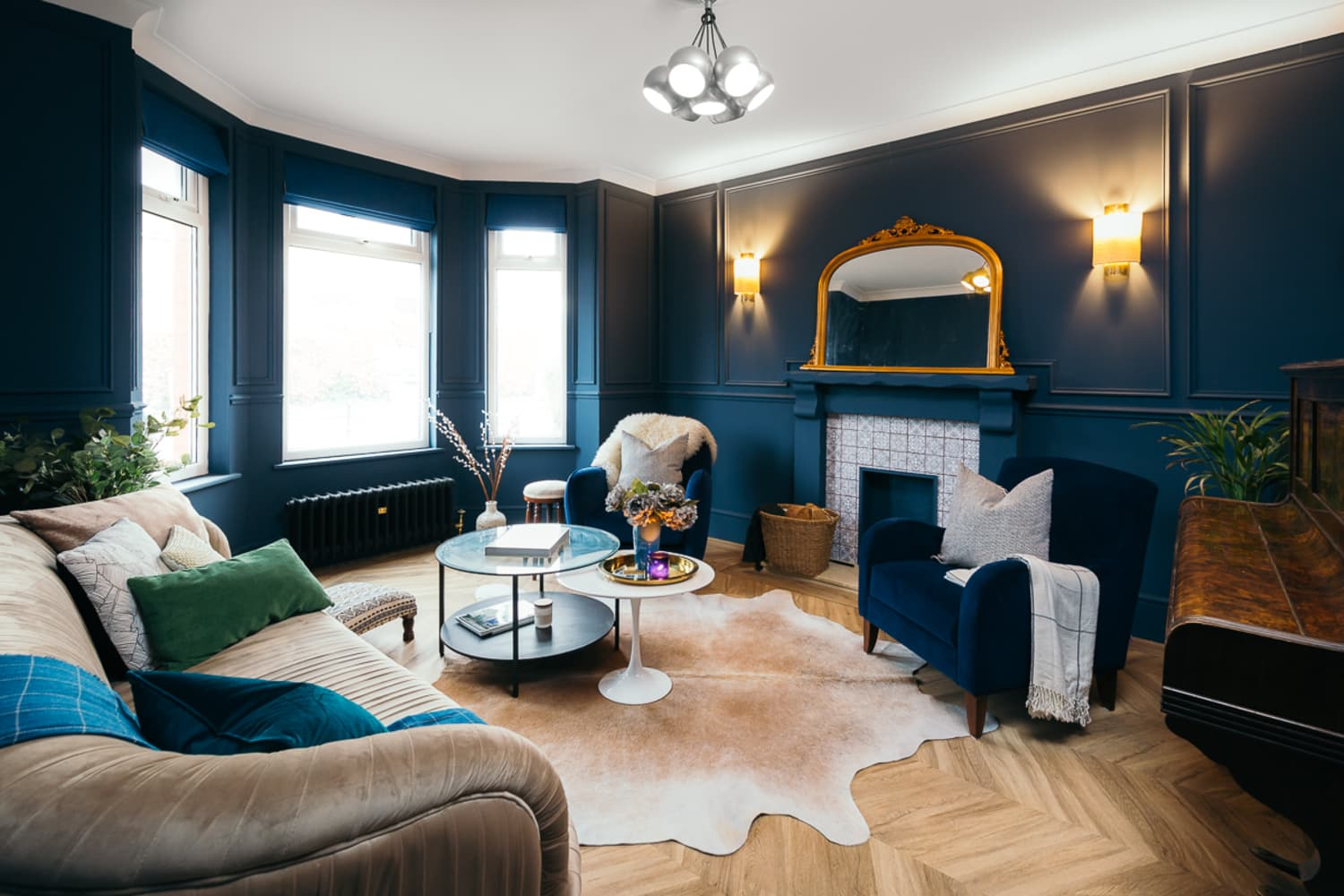 A Formerly Beige UK Home Is Brimming with Bold and Beautiful Shades of Blue