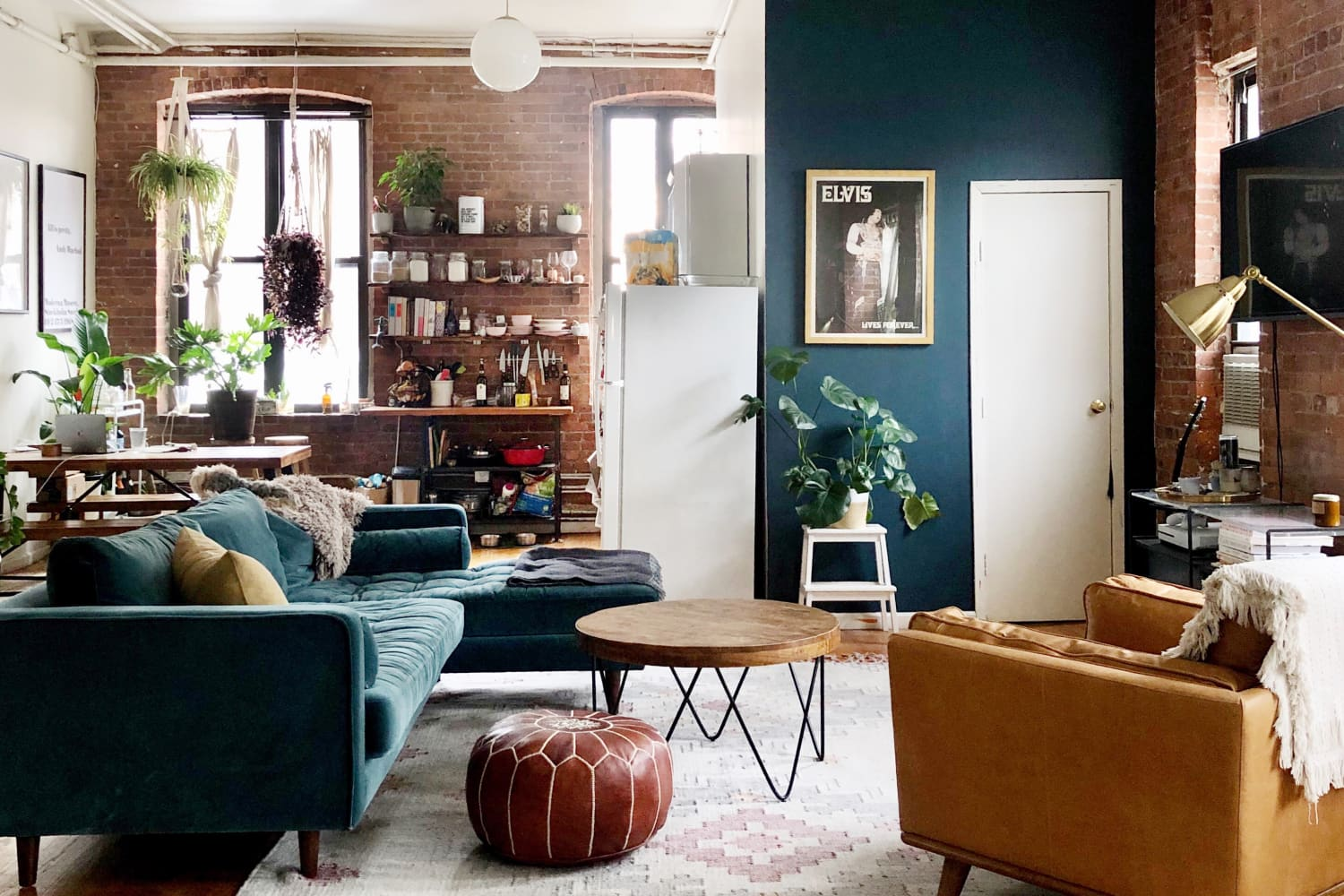 700 Square Foot Warm Industrial Brooklyn Apartment