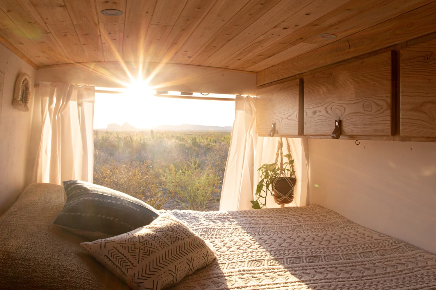 A 55-Square-Feet Converted Van Is So Gorgeous, It's Like a Minimal, Modern, Woodsy Cabin on Wheels