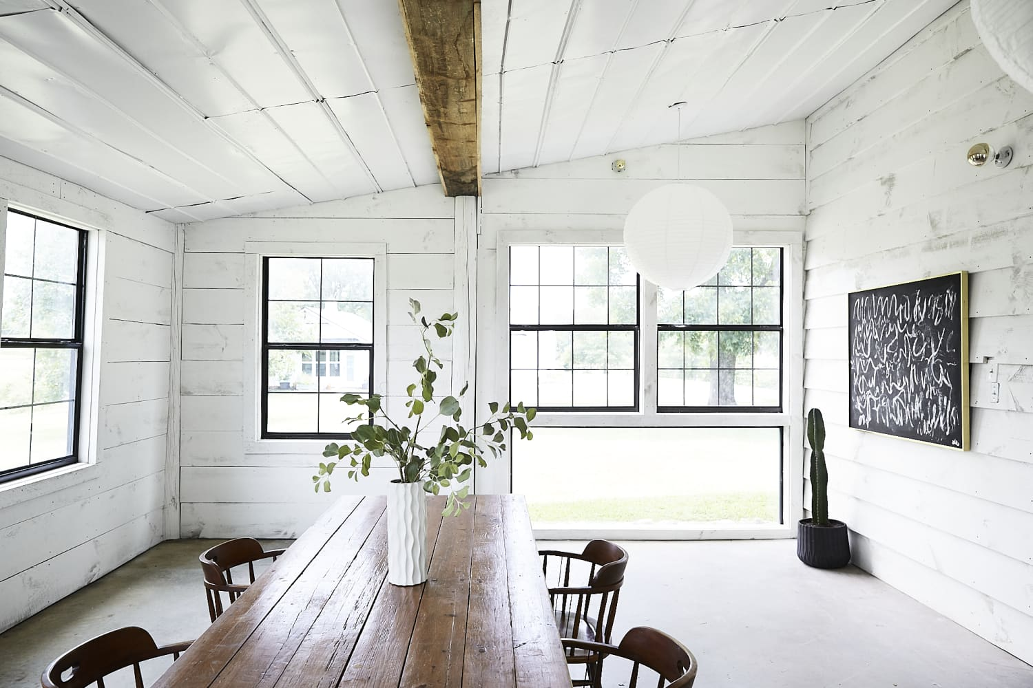 This Minimal and Modern Home Used to Be a Garage (and There's a Backyard Barn Studio, Too)