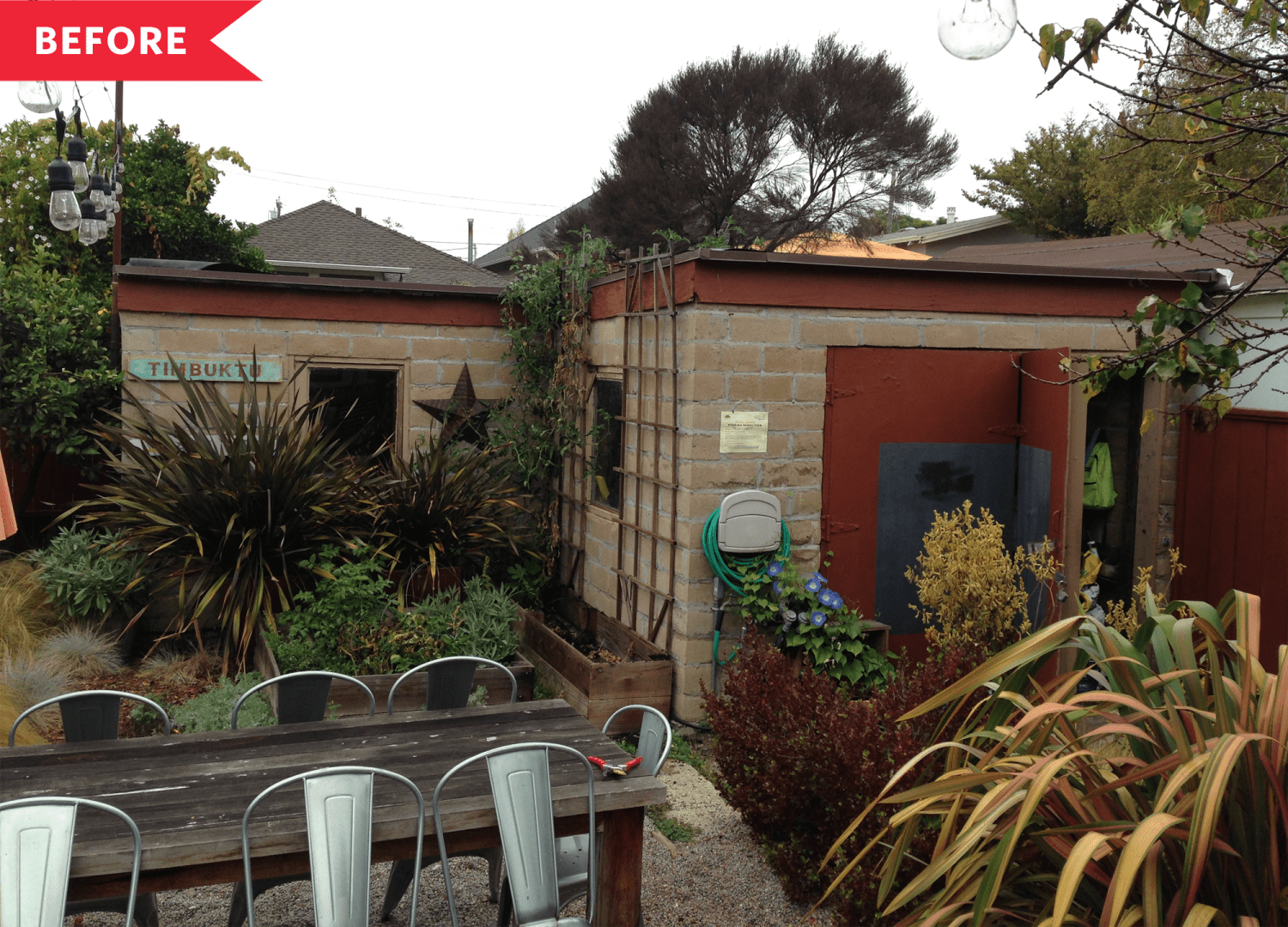 Before & After: A Cinder Block Garage Turned Gorgeous 280-Square-Foot Backyard ADU
