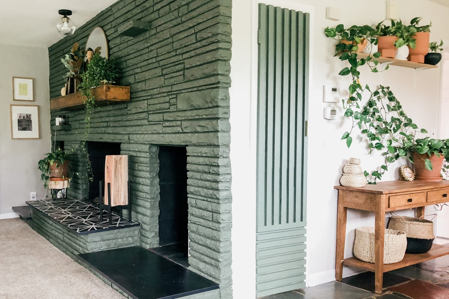 This Outdated House Is Becoming a Dream Home One DIY Project (and Houseplant) at a Time