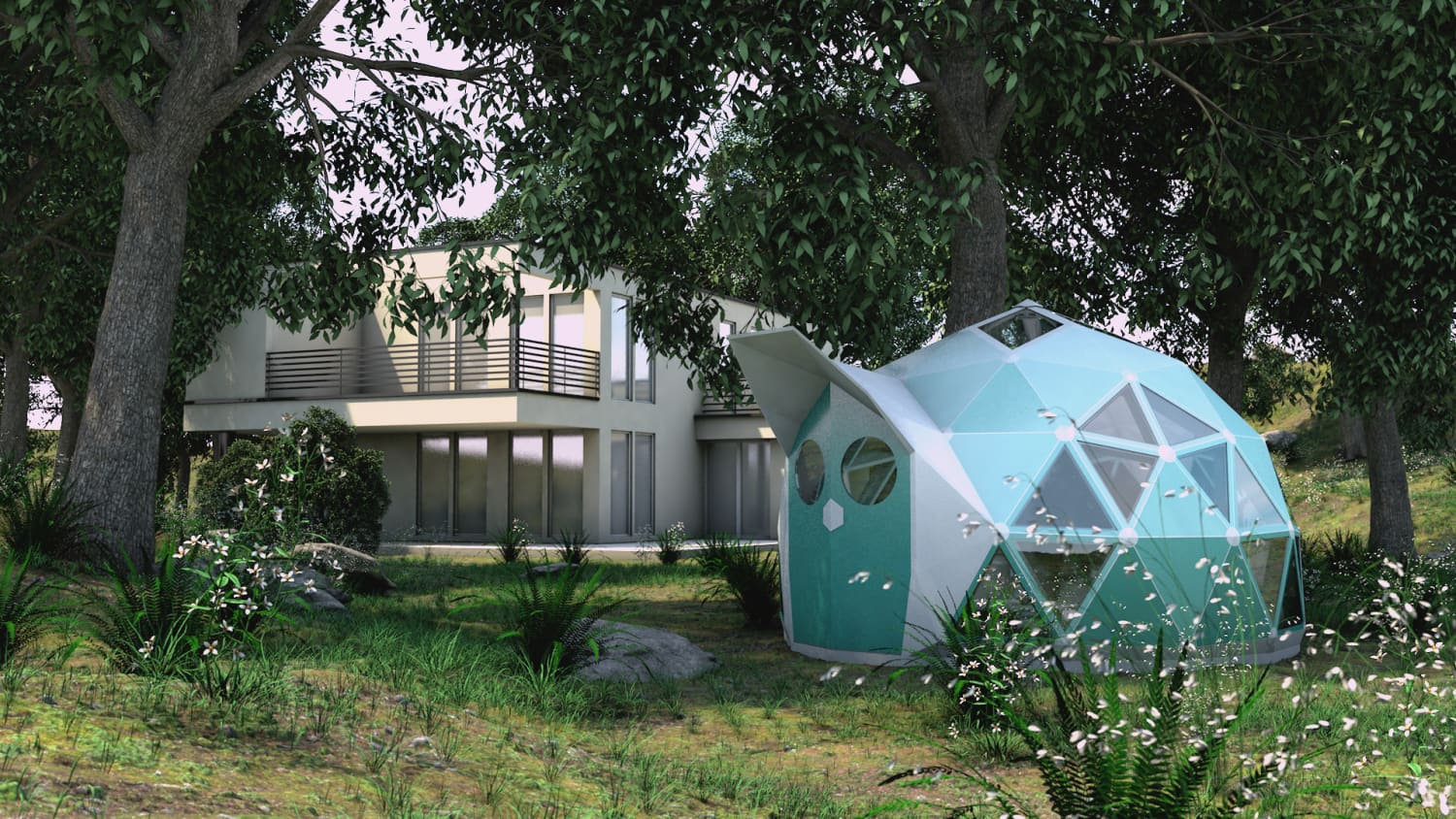 This Affordable Tiny Dome Is An Example of What Zero-Carbon Living Could Look Like