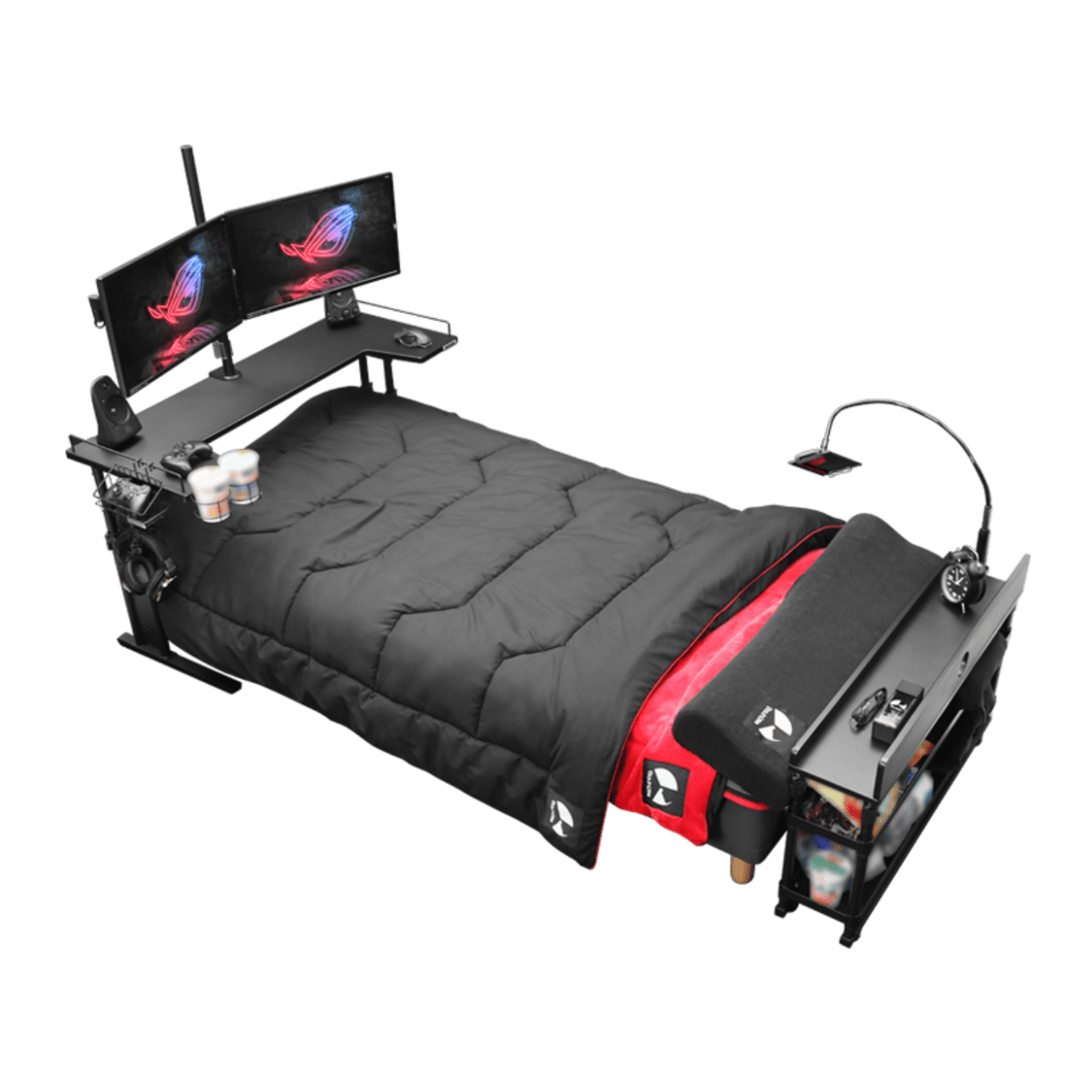 This Gaming Bed Doubles As a Home Office, So You May Never Need to Leave Your Bedroom Again