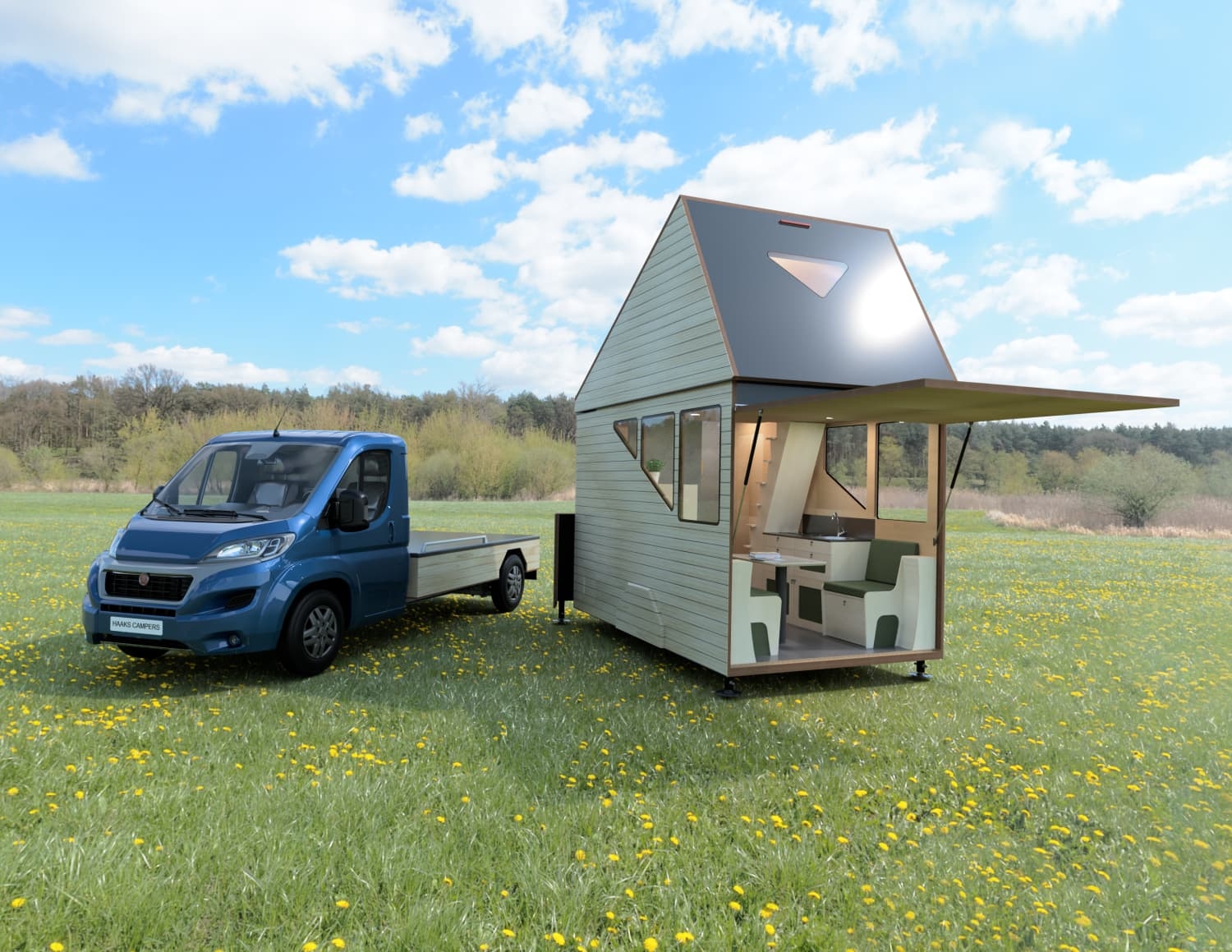 This Detachable Camper Expands into a Two-Story Tiny House