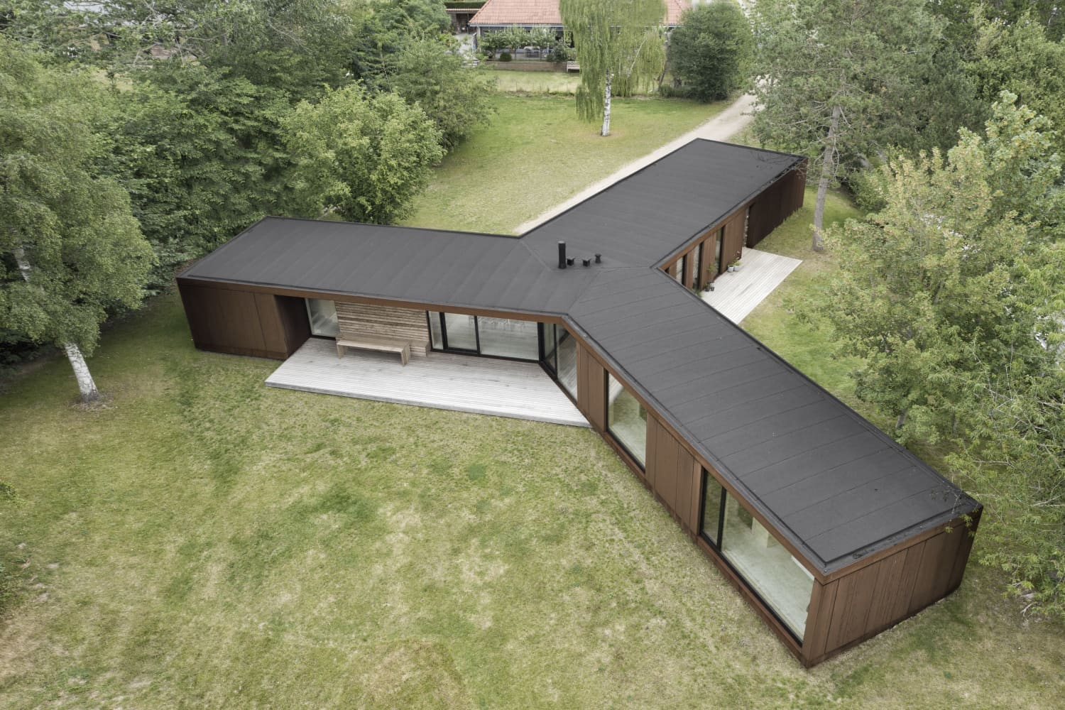 This Three-Legged House in Denmark Took Only Three Days to Build