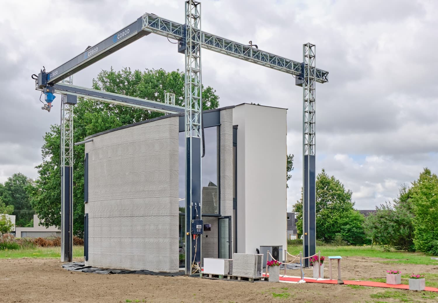 Watch This Two-Story House Get 3D Printed From Start To Finish