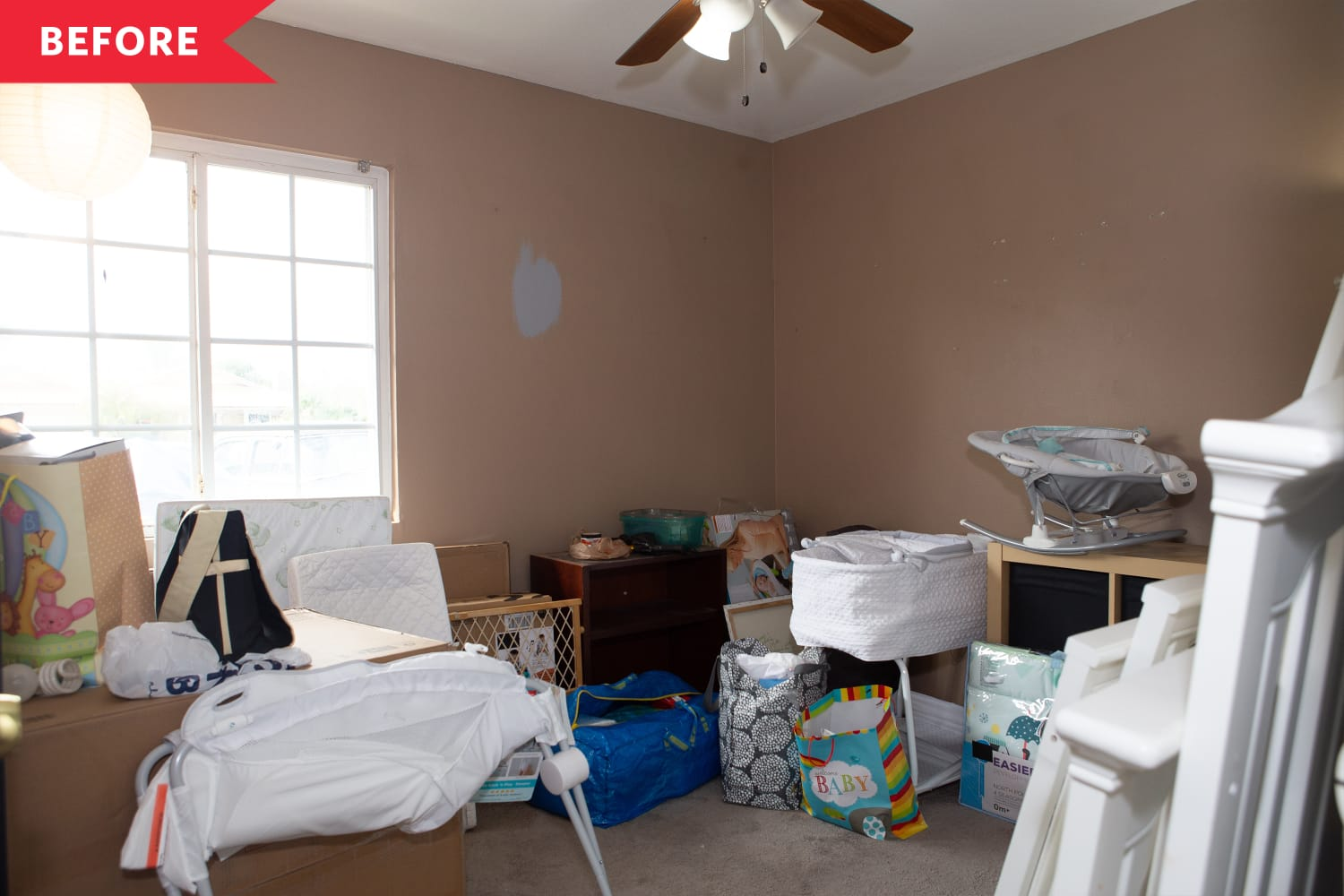"""HGTV's """"Help! I Wrecked My House"""" Renovated This Cluttered Space Into a Baby-Ready Nursery"""