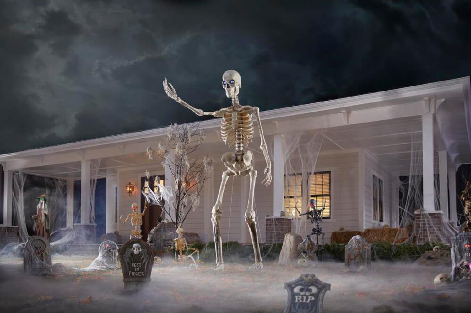 Home Depot's 12-Foot-Tall Skeleton Is the Star of Halloween Memes