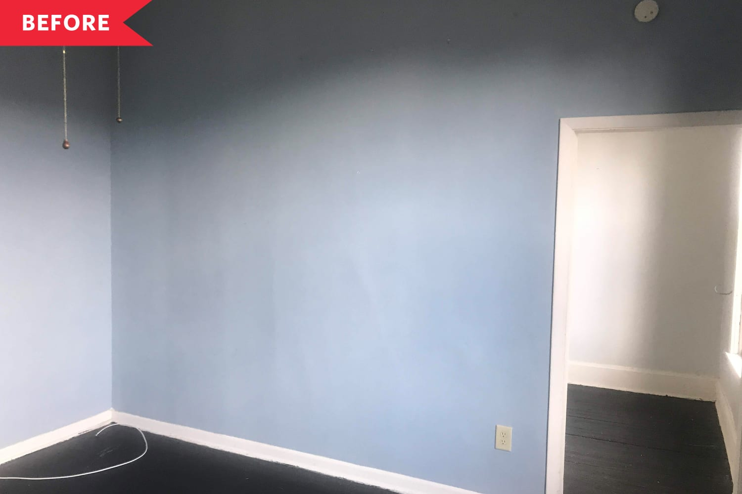 Before and After: A DIYer Transforms a Blank Living Room Wall into the Ultimate Focal Point for Less Than $200