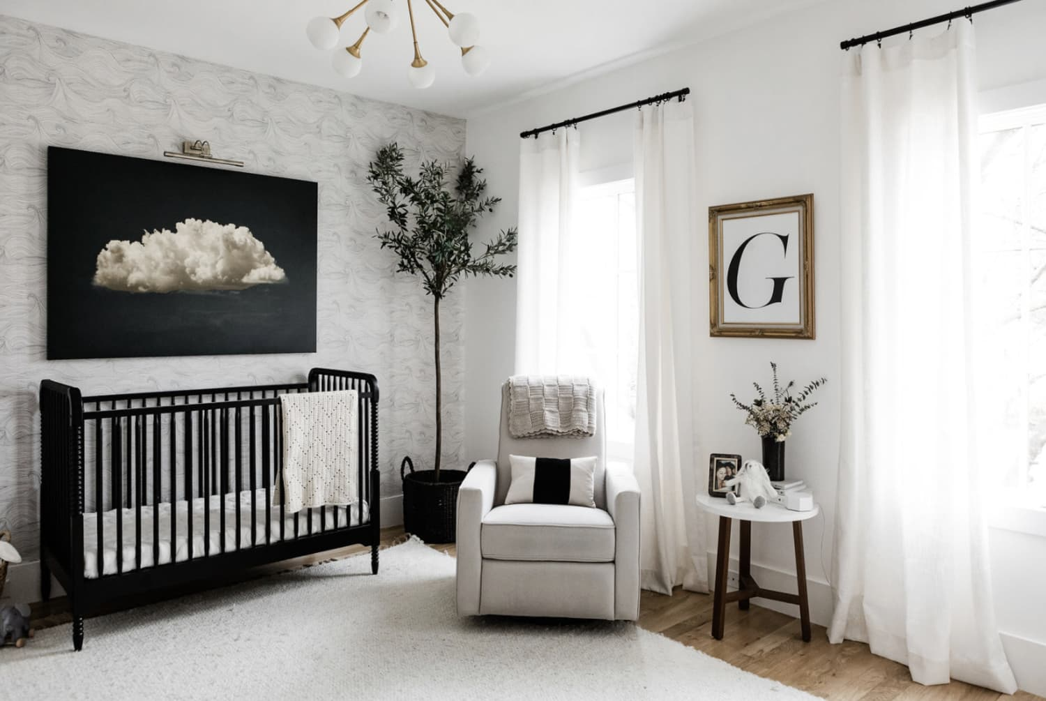 A Blogger Designed a Black-and-White Nursery That's Anything but Boring