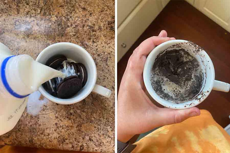 This Magical 2-Ingredient, 2-Minute Oreo Mug Cake Looks Weird, but It Tastes Like a Dream