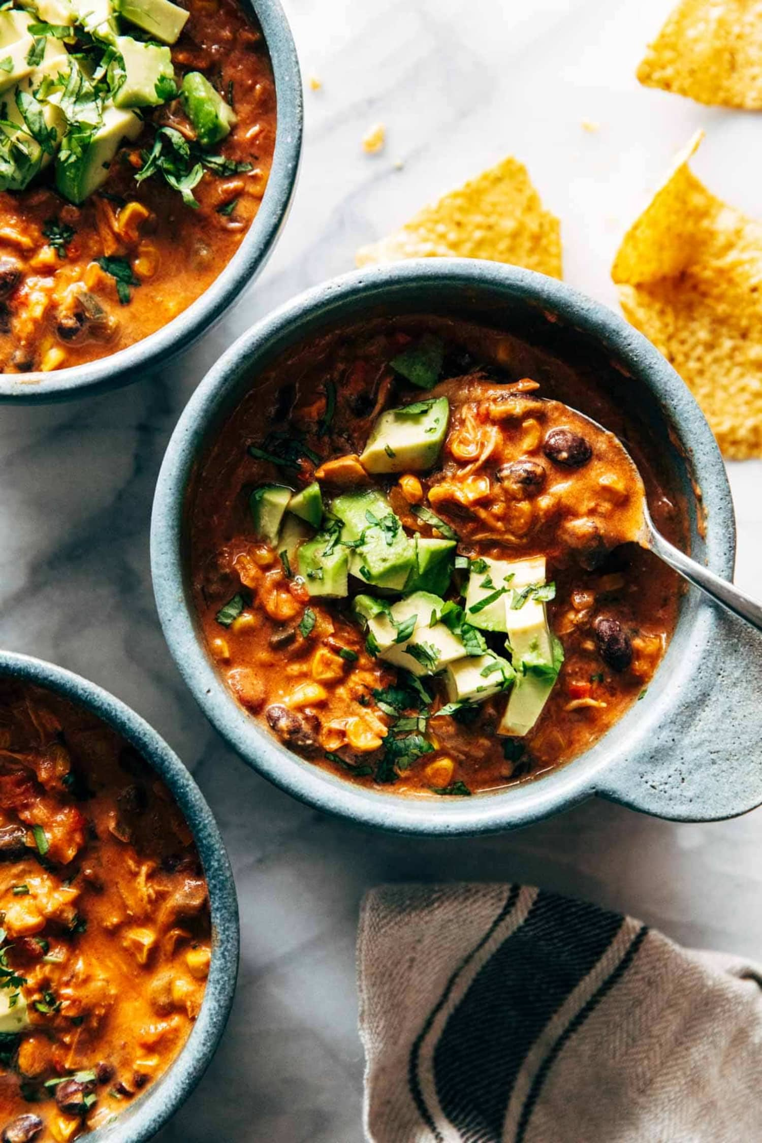Treat Yourself to an Enormous Pot of Queso Chicken Chili