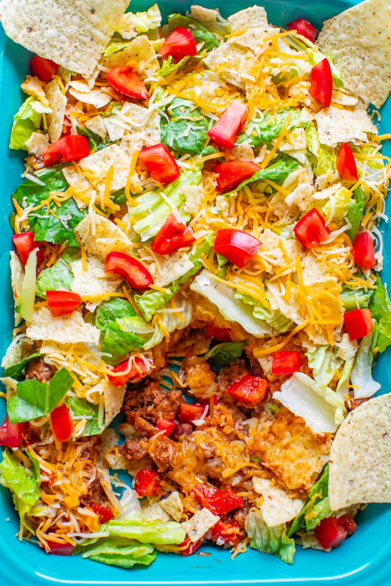 Layered Beef Taco Salad Averie Cooks Kitchn