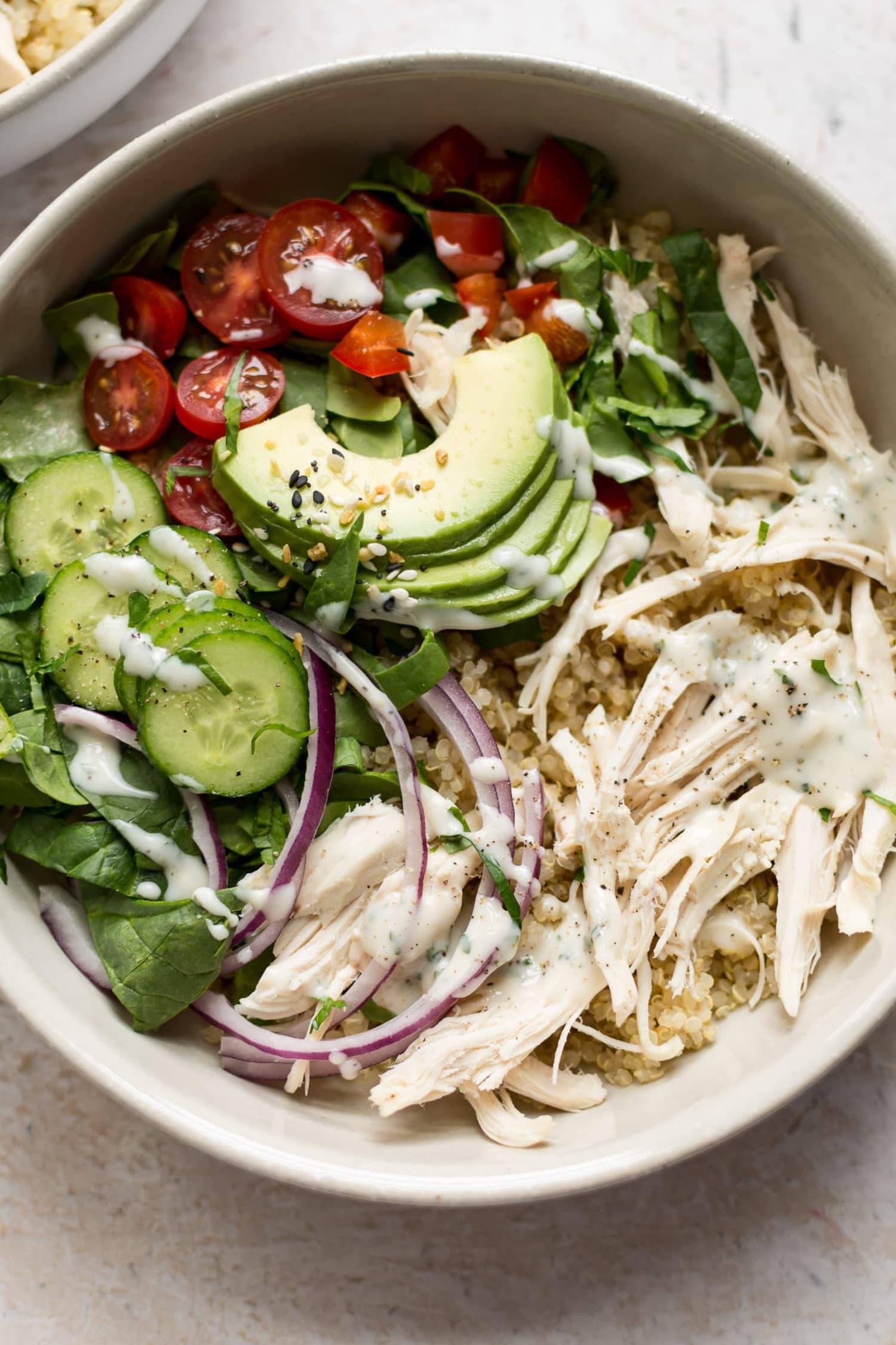 Ranch Chicken Quinoa Salad Salt Lavender Kitchn