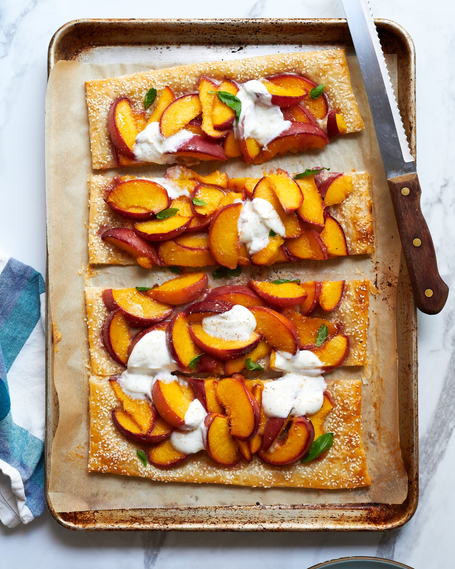 Tahini and Peaches Are a Perfect Pair — This Summer Tart Proves It