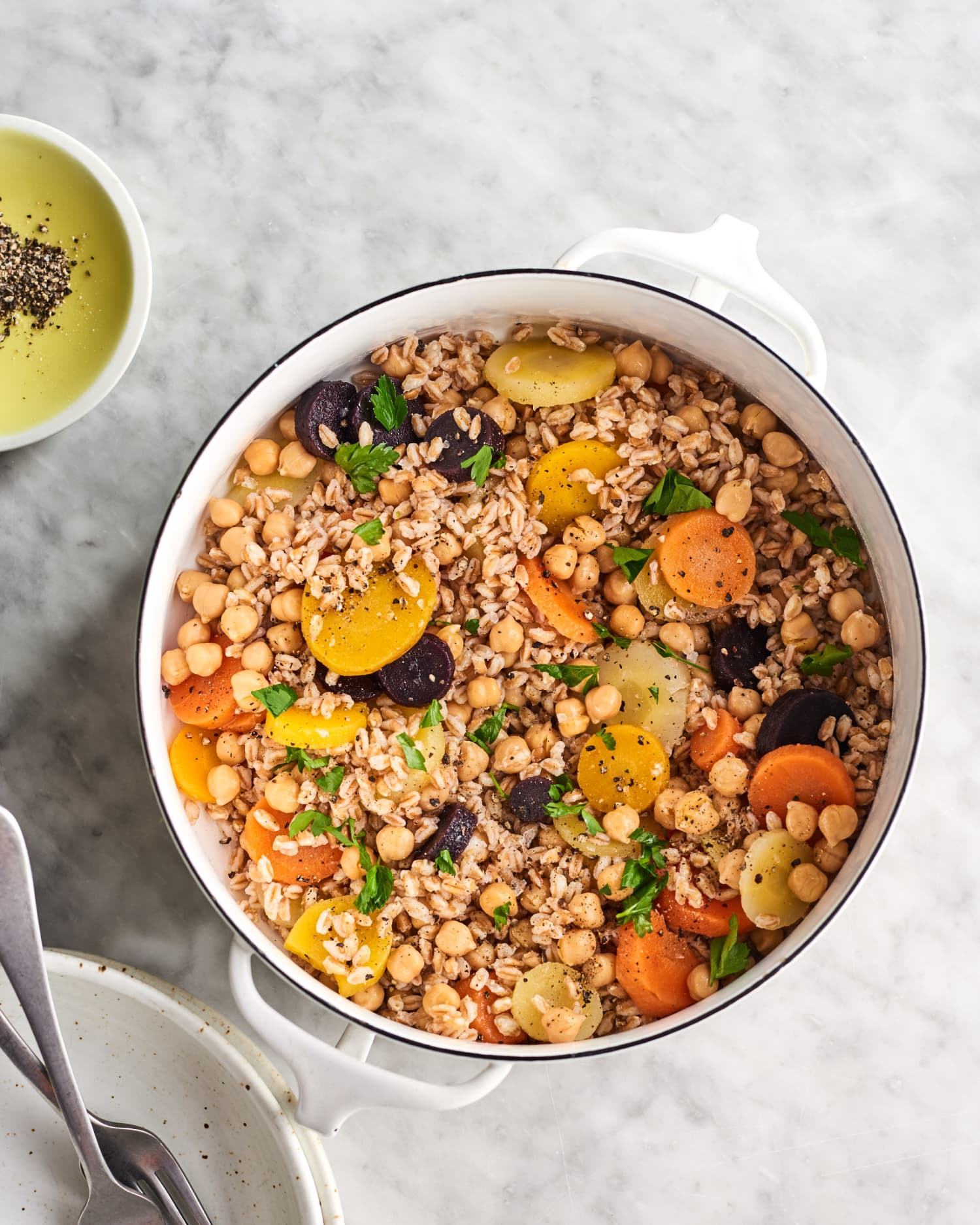 One-Pot Veggie-Packed Farro Is Ready in 20 Minutes
