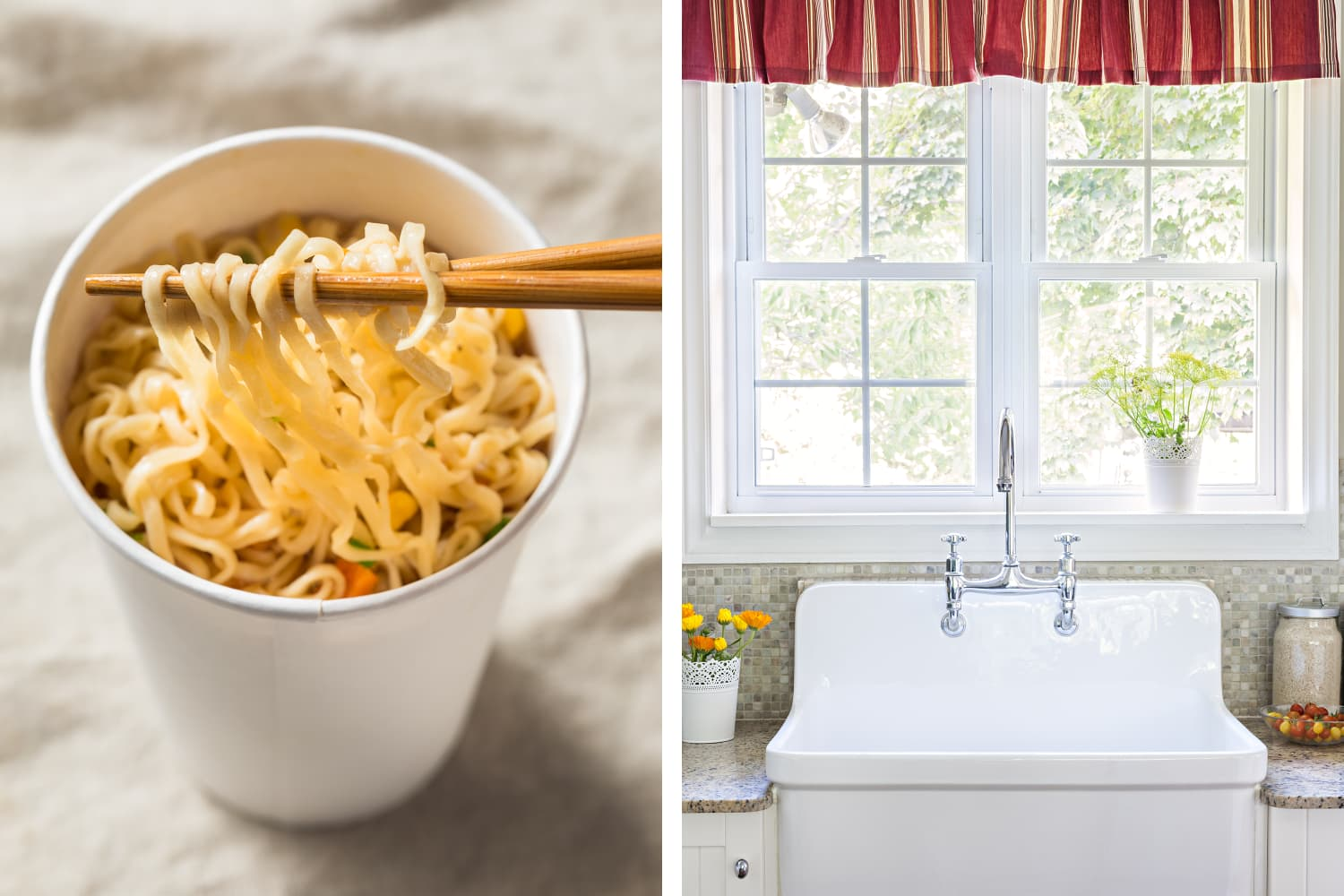 The Strangest Hack You Ve Never Heard Of Fixing Your Sink With Instant Ramen Kitchn