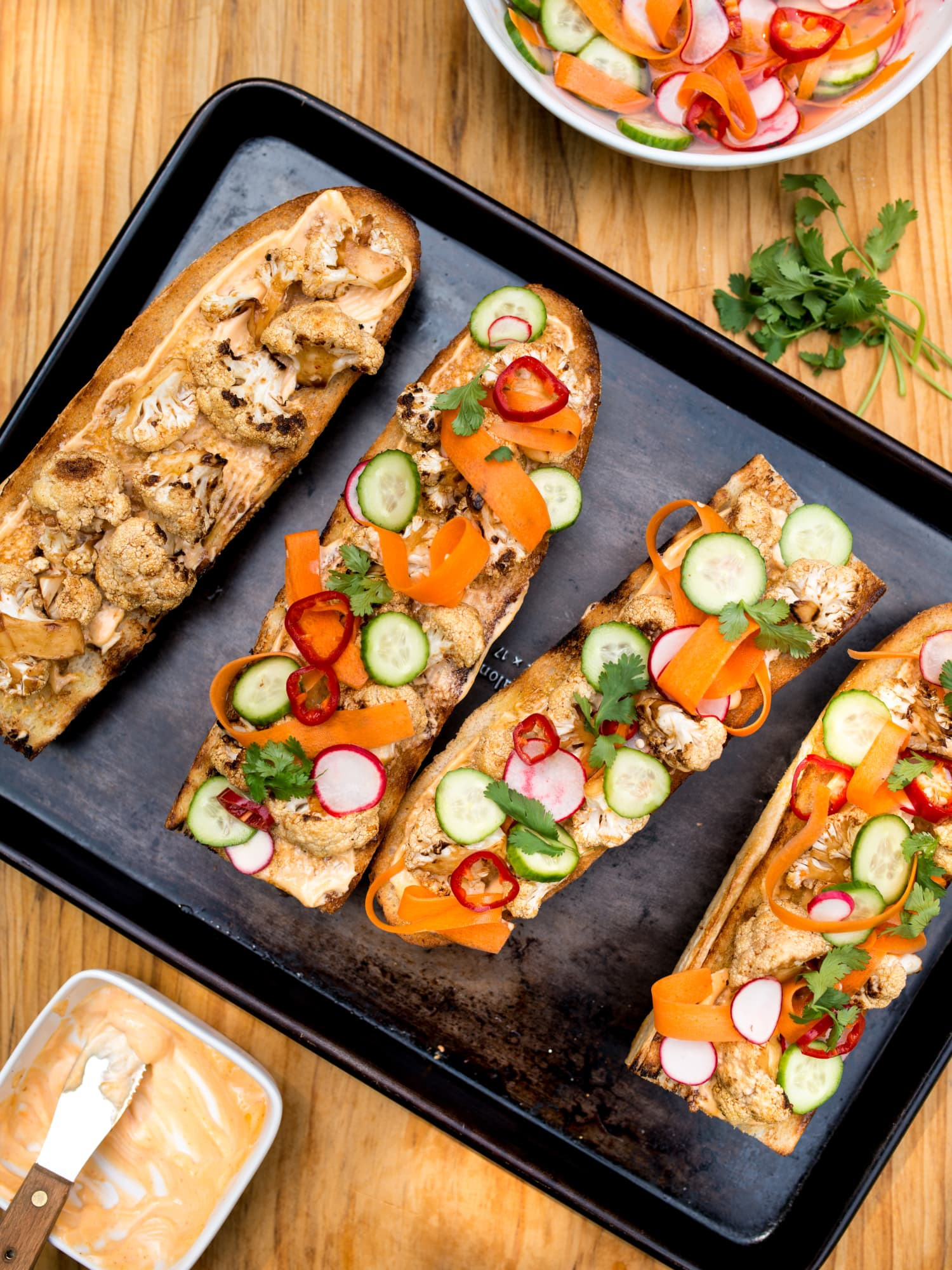 This Easy (Ridiculously Good) Cauliflower Bánh Mì Starts on the Grill