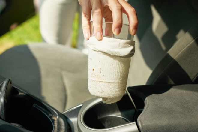 Your Car's Cup Holders Are Gross—But This Quick Sock Trick Will Clean Them in 10 Seconds