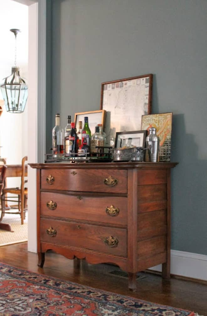 "Move Over, Bar Carts—Here's Why I Love The ""Bar Dresser"""