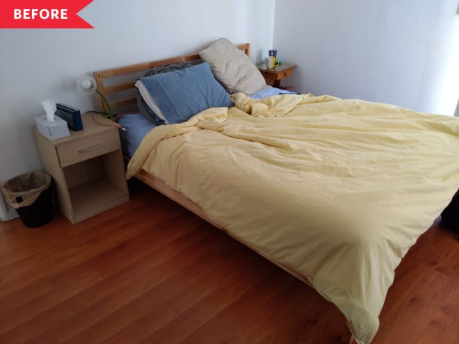 Before and After: A High-Impact, Paint-Only Bedroom Makeover—for $160