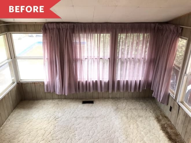 Before and After: You'll Want to Warm Up in This Sunroom ASAP
