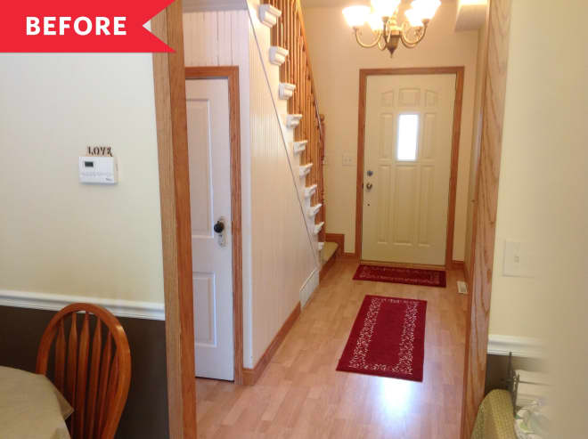 Before and After: A Cheery But Still Classic Update for This 1880s Entryway