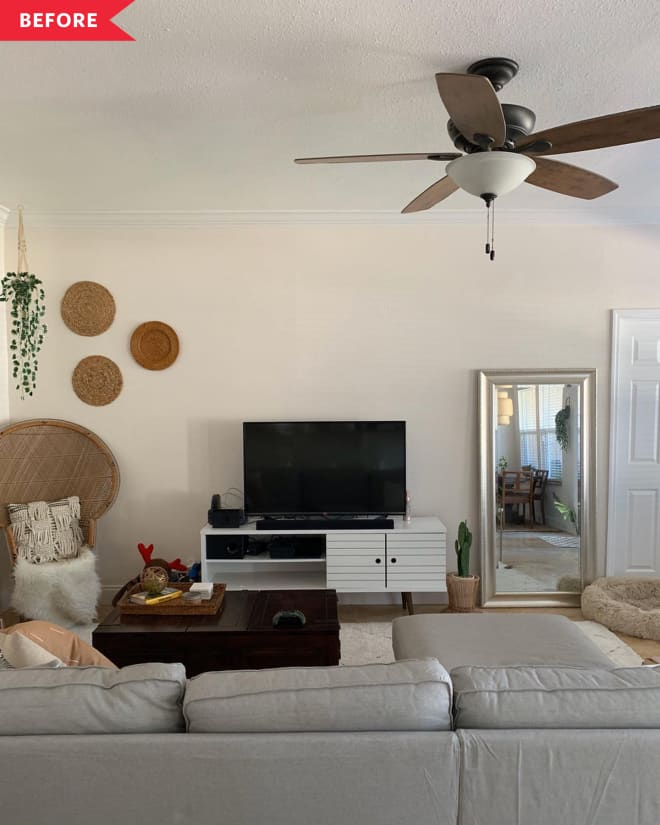 Before and After: This Living Room's New Fireplace Will Make You Look Twice